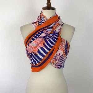 Stella & Dot Multicolor Print Sheer Scarf AC6
